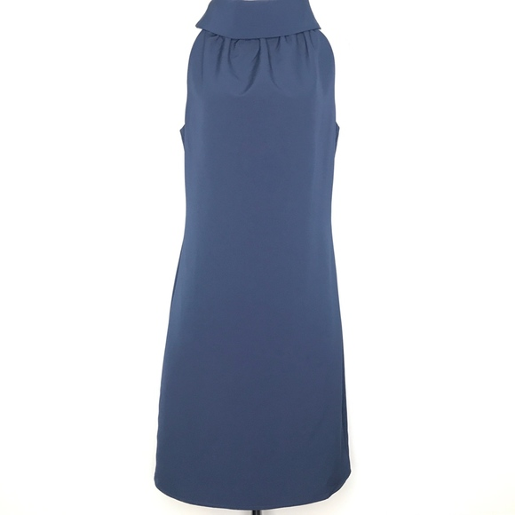 Sail to Sable Dresses & Skirts - Sail to Sable Blue Cowl Neck Shift Dress A010627